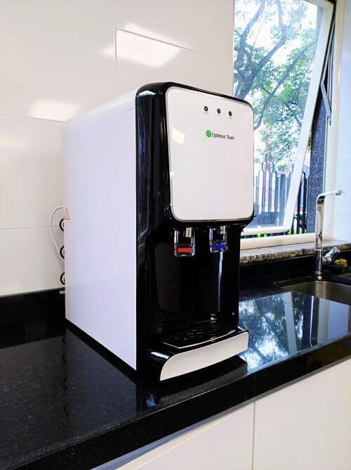 dispensador de agua con filtro purificador